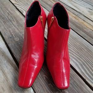 Shoes - LIZ CLAIBORNE LEATHER ANKLE BOOTS SZ 8.5